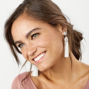 Baublebar Pinata Tassel Earrings White